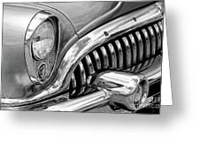 1953 Buick Chrome Bw Greeting Card