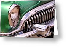 1953 Buick Chrome Greeting Card
