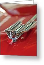 1953 Cadillac Eldorado Convertible Hood Ornament Greeting Card