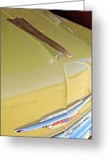 1953 Chevrolet Bel Air Hood Ornament Greeting Card by Jill Reger