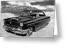 1953 Mercury Monterey On Bonneville Greeting Card by Peter Piatt