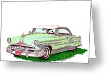 1953 Pontiac Chieftain Catalina H.t. Greeting Card