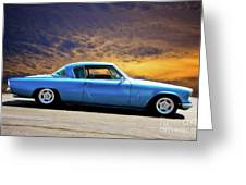 1953 Studebaker 'blue Streak' Commander Greeting Card
