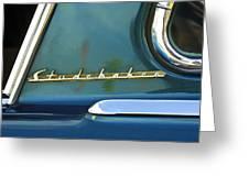 1953 Studebaker Champion Starliner Abstract Greeting Card