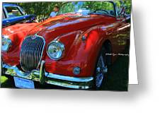 1953 Xk 150 Jaguar Greeting Card