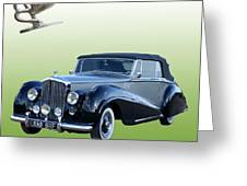 1954 Bentley Drop Head Coupe Greeting Card