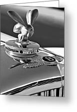 1954 Bentley One Of A Kind Hood Ornament 2 Greeting Card by Jill Reger