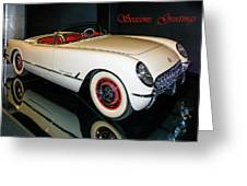 1954 Chevrolet Corvette Convertible Greeting Card