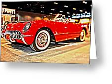 1954 Chevrolet Corvette Number 2 Greeting Card