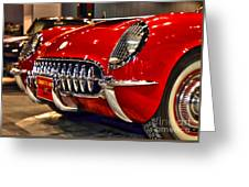 1954 Chevrolet Corvette Number 3 Greeting Card