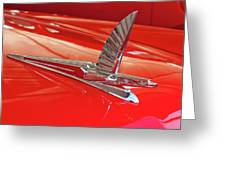 1954 Ford Cresline Sunliner Hood Ornament 2 Greeting Card