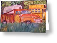 1954 Gmc Wrecker Truck Greeting Card