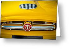 1954 Hudson Grille Emblem Greeting Card