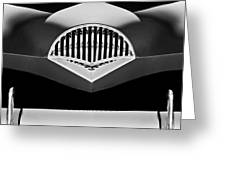 1954 Kaiser Darrin Grille Black And White Greeting Card