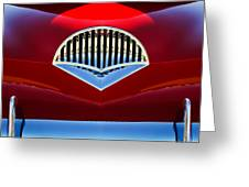 1954 Kaiser Darrin Grille Greeting Card