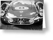 1954 Maserati A6 Gcs -0255bw Greeting Card