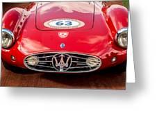 1954 Maserati A6 Gcs Grille -0255c Greeting Card
