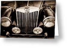 1954 Mg Tf Grille Emblem -0165s Greeting Card