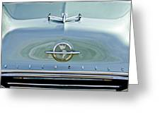 1954 Oldsmobile Super 88 Hood Ornament 3 Greeting Card