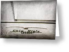 1955 Alfa Romeo 1900 Css Ghia Aigle Cabriolet Grille Emblem - Super Sprint Emblem -2266ac Greeting Card