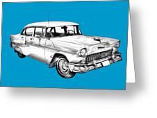 1955 Chevrolet Bel Air Illustration Greeting Card