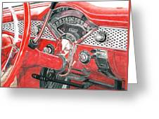 1955 Chevrolet Bel Air Greeting Card