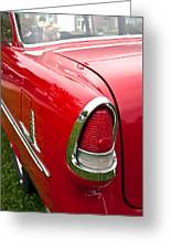 1955 Chevrolet Bel Air Tail Light Greeting Card