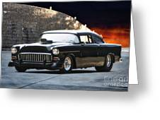 1955 Chevrolet Coupe 'sinister Chevy' Greeting Card