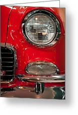 1955 Chevy Bel Air Headlight Greeting Card by Sebastian Musial