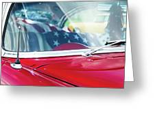1955 Chevy Bel Air With Flag Greeting Card