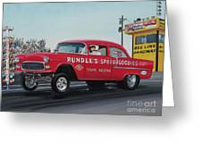 1955 Chevy Gasser Greeting Card