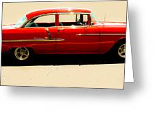 1955 Chevy Greeting Card by Tom Zukauskas