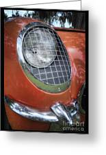 1955 Corvette Headlight Detail Greeting Card