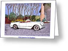 1955 Corvette Six Roadster Greeting Card