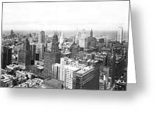 1955 Downtown Chicago Greeting Card