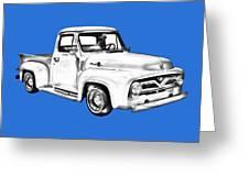 1955 F100 Ford Pickup Truck Illustration Greeting Card
