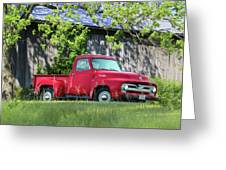 1955 Ford F100 Truck Greeting Card