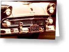 1955 Ford Fairlane Greeting Card