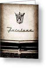 1955 Ford Fairlane Crown Victoria Emblem -1713s Greeting Card