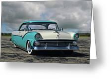 1955 Ford Fairlane Victoria Greeting Card