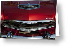 1955 Kaiser Hood Ornament And Grille Greeting Card