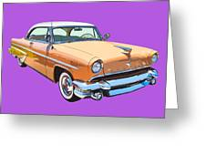 1955 Lincoln Capri Fine Art Illustration  Greeting Card