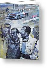 1955 Mercedes Benz 300 Slr Moss Jenkinson Winner Mille Miglia  Greeting Card