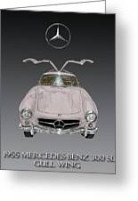 1955 Mercedes Benz Gull Wing 300 S L  Greeting Card
