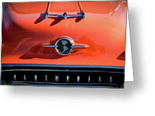 1955 Oldsmobile Rocket 88 Hood Ornament Greeting Card