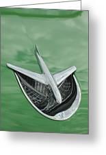 1956 Buick Riviera Hood Ornament Greeting Card