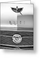 1956 Buick Special Hood Ornament - Emblem -0538bw Greeting Card