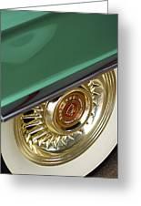 1956 Cadillac Eldorado Tire Greeting Card