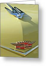 1956 Cadillac Sedan Deville Hood Ornament Greeting Card