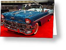 1956 Chevrolet Bel-air Convertible . Blue . 7d9248 Greeting Card by Wingsdomain Art and Photography